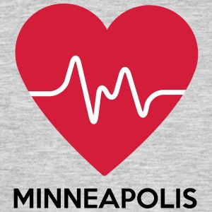 heart Minneapolis - Men's T-Shirt