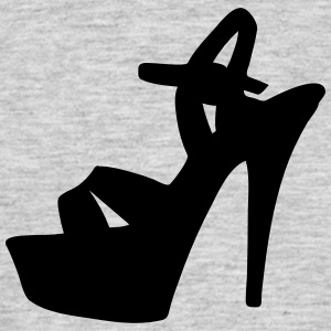 Vector highheels Silhouette - T-shirt Homme