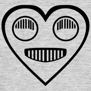Automotive Love - Heart headlight eyes - Men's T-Shirt