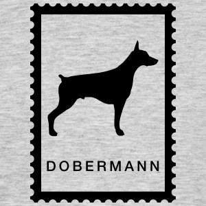 Stamp Doberman - T-skjorte for menn