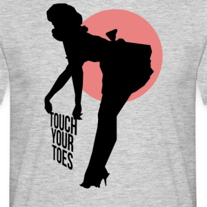 Vintage Girl - Touch Your Toes! - Men's T-Shirt