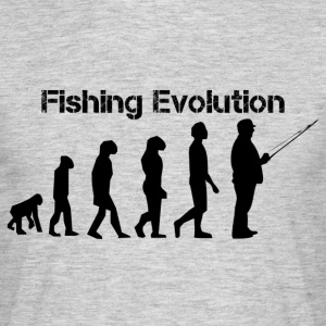fiske evolution - T-shirt herr
