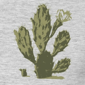 Pear Cactus in Bloom - Men's T-Shirt