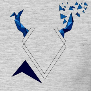 Triangular Blue Kite - Men's T-Shirt