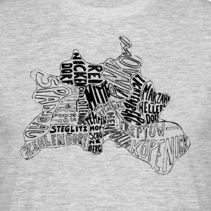 Berlin carte Districts - T-shirt Homme