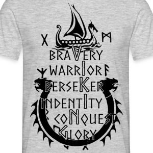Viking - Bravery, Warrior, Berserker, Identity, ... - Men's T-Shirt