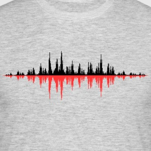 Red Sound Wave - Männer T-Shirt