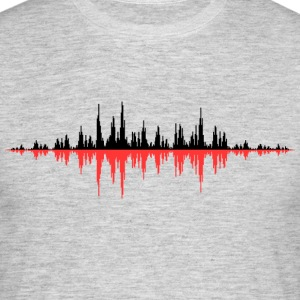 Red Sound Wave - Mannen T-shirt