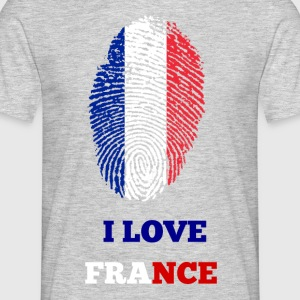I LOVE FRANCE FINGERABDRUCK - Männer T-Shirt