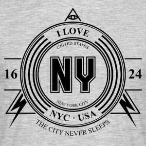 New York Badge - Herre-T-shirt