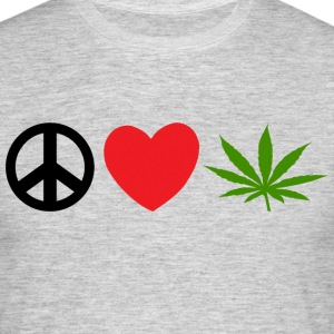 Peace Love Marijuana Cannabis Weed Pot - Männer T-Shirt