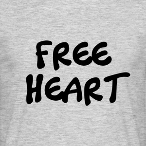 FREE HEART BLACK - T-shirt Homme