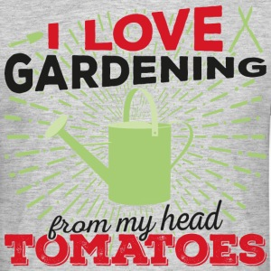 I love gardening from my head tomatoes! (Dark) - Men's T-Shirt