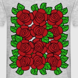 Red Roses (Transparent) - Herre-T-shirt