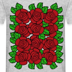 Red Roses (Transparent) - T-skjorte for menn