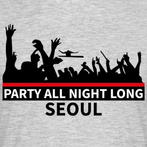 SEOUL - Party hele natten lang - T-skjorte for menn