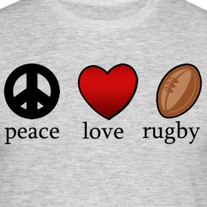 Peace Love Rugby - T-shirt herr