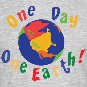 Jordens Dag One Day One Earth - Herre-T-shirt