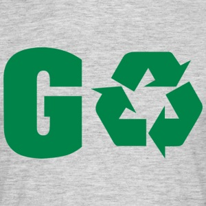 Dag van de Aarde Recycle Go Green - Mannen T-shirt