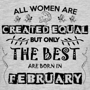 Woman Birthday February - Men's T-Shirt
