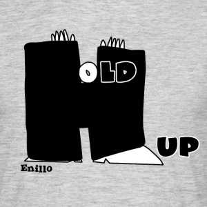 Enillo Hold Up Graphics & Typography - Men's T-Shirt