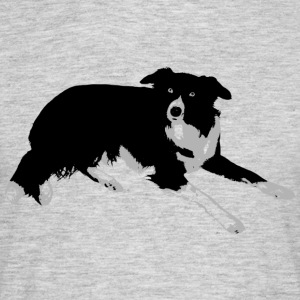 Border collie, en sann vän. - T-shirt herr