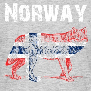 Nation-Design Norge Wolf - T-skjorte for menn
