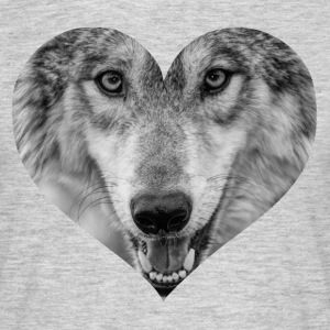 A heart for Wolves - Men's T-Shirt