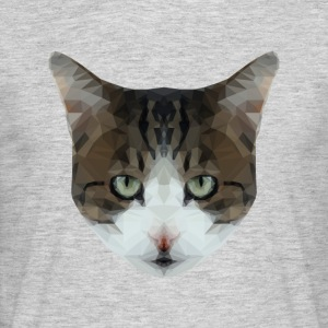Lage Cat Poly Hipster - Mannen T-shirt