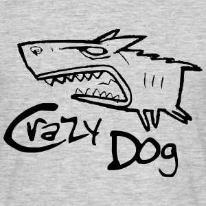 crazy dog ​​1 - Men's T-Shirt