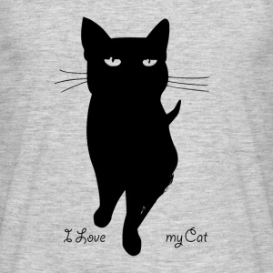 i_love_my_cat - T-shirt herr