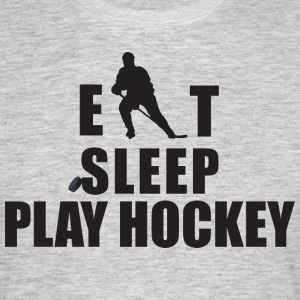 Eat Sleep Play Hockey Hockey - Männer T-Shirt
