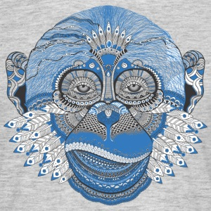 Monkey aap schedel aaphoofd Indian Style - Mannen T-shirt
