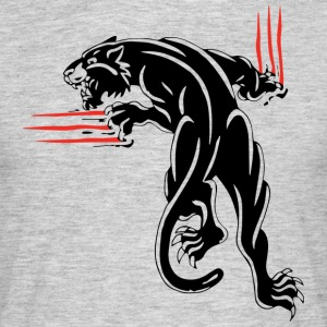 Zwart dier JUNGLE wilde kat - Mannen T-shirt