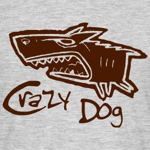 crazy dog - Männer T-Shirt