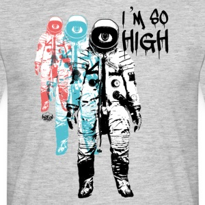 Hög kosmonaut Flight Travel Trip - T-shirt herr