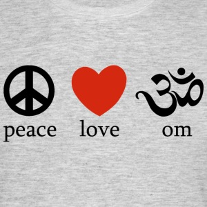 Peace Love Yoga - T-skjorte for menn