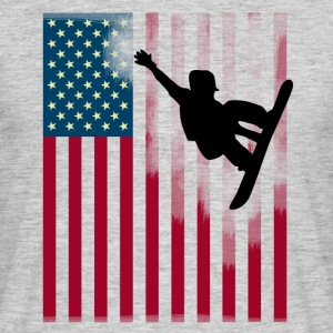snowboard jump Sport Flag Team USA cool man - Men's T-Shirt