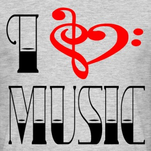I LOVE MUSIC - Men's T-Shirt