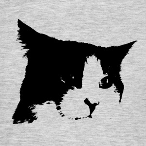 Black / White Cat - Men's T-Shirt