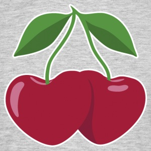 cherries and hearts - Men's T-Shirt