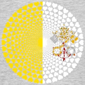 Vatican Vatican Vatican City Pope Love Mandala - Men's T-Shirt