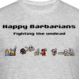 Happy Barbarians - Fighting the undead - Männer T-Shirt