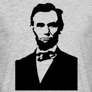 abraham lincoln stencil - Men's T-Shirt