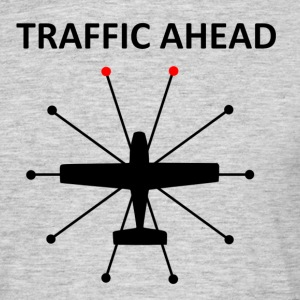 Traffic Ahead - Collision - Mannen T-shirt