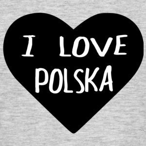 I LOVE POLSKA - T-skjorte for menn
