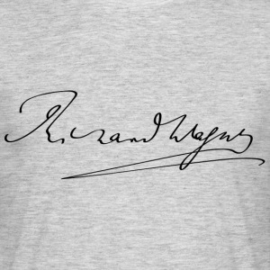 Richard Wagner signature - T-shirt Homme