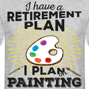 Retirement plan painting (dark) - Men's T-Shirt