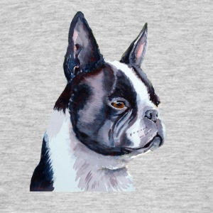 Boston terrier - T-shirt herr