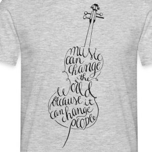 cello kalligrafi - T-shirt herr